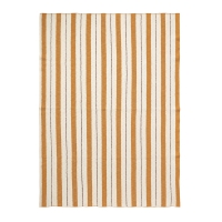Couverture rayures Pinstripe - Jaune moutarde