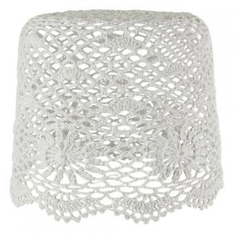 abat jour tambour en crochet gris clair rjb stone pour chambre enfant les enfants du design. Black Bedroom Furniture Sets. Home Design Ideas