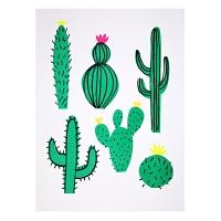 2 Affiches Cactus - Vert