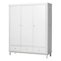 Armoire 3 portes Wood - Blanc
