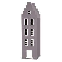 Armoire maison Amsterdam escalier - Gris souris