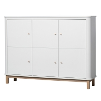 Armoire multi-rangement Wood - Chêne / Blanc