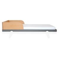 Barrière pour lit bébé 70 x 140 cm Petipeton - Gris souris