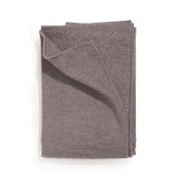 Plaid tricoté en laine - Lilas / Fils dorés