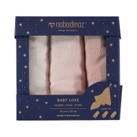 Pack 3 langes Baby Love Elements - Rose