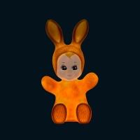 Lampe veilleuse bébé lapin - Rose pastel