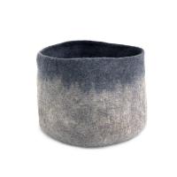 Calebasse en feutre M - Bleu gris