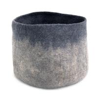 Calebasse en feutre XL - Bleu gris