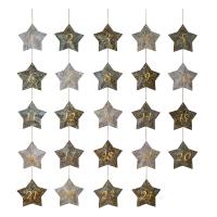 Calendrier de l'Avent étoiles - Bleu