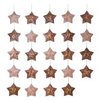 Calendrier de l'Avent étoiles - Rose