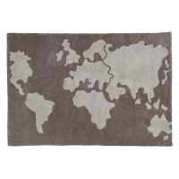 Tapis Carte du Monde - Gris