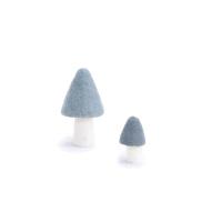 Champignon Morille en feutre - Bleu Hiver