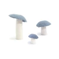 Champignon en feutre - Bleu Hiver