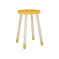 Table d'appoint / chevet - Jaune or