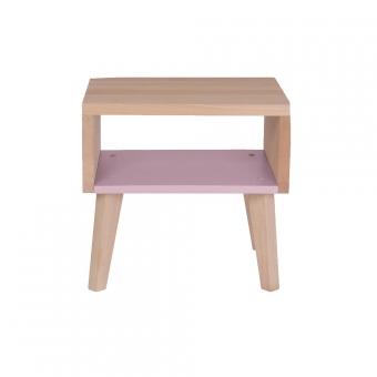 chevet bout de canap rose p le paulette et sacha pour chambre enfant les enfants du design. Black Bedroom Furniture Sets. Home Design Ideas