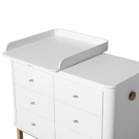 Commode avec petit plan à langer Wood - Chêne / Blanc
