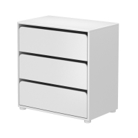 Commode 3 tiroirs - Blanc