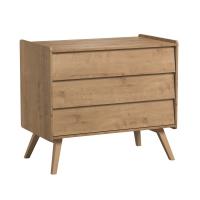 Commode 3 tiroirs à langer Vintage - Chêne