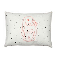Coussin brodé Lapin