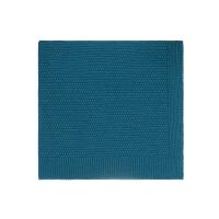 Couverture Bou en tricot - Bleu pétrole