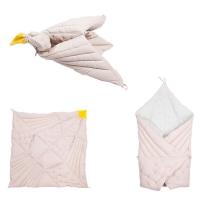 Couverture oiseau rêveur - Mauve