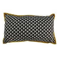 Coussin rectangle Mata - Noir