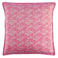 Grand coussin Jouy - Rose fluo