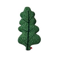 Coussin Feuille de chêne - Vert forêt