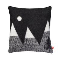 Coussin Montagnes et Lune - 2 faces - Noir/Blanc