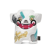 Marionnette Monstre Graffiti - Blanc