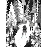 Sérigraphie Pine forest