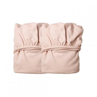 lot de 2 draps housses b b pour lit linea et lit volutif leander rose p le leander pour. Black Bedroom Furniture Sets. Home Design Ideas