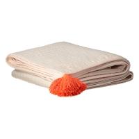 Edredon pompons - Rose pâle
