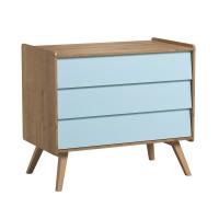 Faces supplémentaires pour commode 3 tiroirs Vintage - Bleu