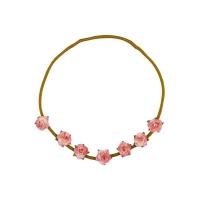 Headband fleurs - Rose