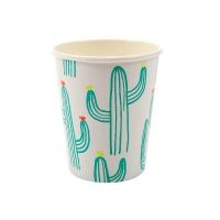 12 Gobelets Cactus - Vert tropical