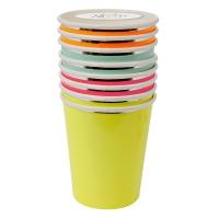 8 gobelets Neon