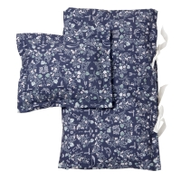Parure de lit Mares - Bleu marine