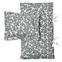 Parure de lit Woodlands 140 x 200 - Blanc/Vert foncé