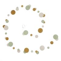 Guirlande bubble en papier lokta - Jade/Pollen/Natural