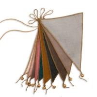 Guirlande fanions et grelots - Multicolore