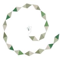 Guirlande kite en papier lokta - Mint/Jade/Naturel