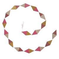 Guirlande kite en papier lokta - Rose/Cumulus/Pollen