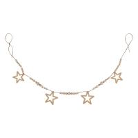 Guirlande étoiles et perles - Naturel