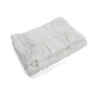 Housse de couette en lin à volants 80 x 120 - Blanc