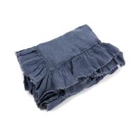 Housse de couette en lin à volants 80 x 120 - Jeans
