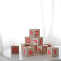 Cubes Alphabet - Rose