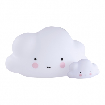grande veilleuse nuage blanc a little lovely company pour chambre enfant les enfants du design. Black Bedroom Furniture Sets. Home Design Ideas