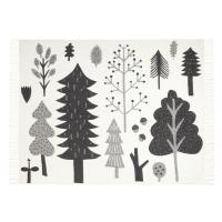 Couverture réversible Forêt - Blanc/Noir