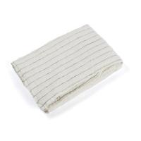 Housse de couette en lin 80 x 120 Rayures Tennis - Blanc